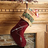 Personalized Christmas Stocking - Fishing Design - 4327