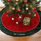 Family Traditions Personalized Velvet Christmas Tree Skirt - 4340