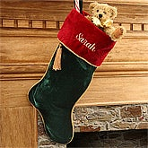 Family Traditions Velvet Personalized Christmas Stockings