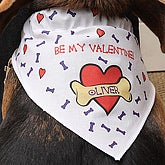 Personalized Dog Bandana - Be My Valentine Design - 4381