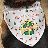 Personalized Christmas Dog Bandana - 4382