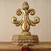 Fleur De Lis Gold Stocking Holders