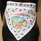Personalized All American Dog Bandana - Fourth of July - 4384