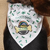 St Patrick's Day Personalized Dog Bandana - 4385
