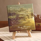 Personalized Memorial Poem Canvas Print - 4388