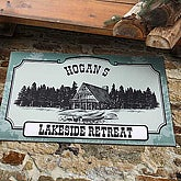 Favorite Hideaway Personalized Vacation Home Door Mat - 4406