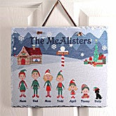 Personalized Christmas Family Characters Slate Plaque - 4417