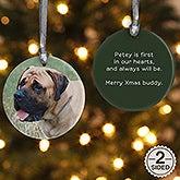 Personalized Pet Photo Memories Porcelain Christmas Ornaments - 4432