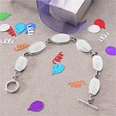 Personalized Birthday Sterling Silver Bracelet  - 4461