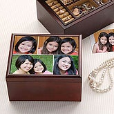 Custom Photo Montage Personalized Jewelry Box - 4469