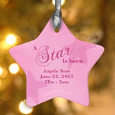 Personalized Porcelain Christmas Tree Ornament - A Star Is Born - 4473