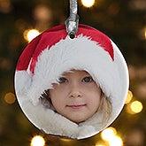 Personalized Porcelain Photo Christmas Ornament - Precious Memories - 4479