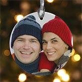 Personalized Porcelain Photo Memories Christmas Ornaments - 4480