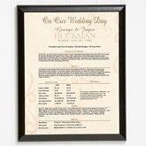 Day In History Facts Personalized Wedding Anniversary Plaque - 4485