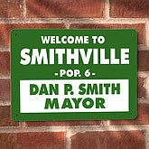Personalized Welcome Street Sign - Mayor Design - 4497
