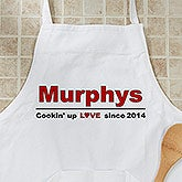 Personalized Apron - Cooking Up Love Design