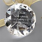 Engraved Crystal Diamond Gift - Personalized Free - 4574