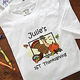 Custom My First Thanksgiving Infant T-Shirt Romper