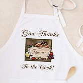 Thanks To The Cook Personalized Apron and Potholder Set - 4594