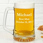 Personalized Glass Beer Mug In Wedding Party Designs - 4612