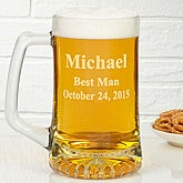 Groomsmen© Over-sized Personalized Beer Mug
