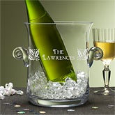 Engraved Glass Personalized Family Name Ice Bucket - 4656