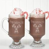 Personalized Holiday Spirit Glass Coffee Mug Set - 4679