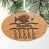 Fishing Personalized Christmas Ornament - Hooked On You Design - 4694