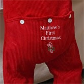 Personalized My First Christmas Romper Sleeper