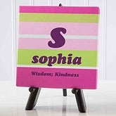 Name Meaning Personalized Canvas Gift - Crazy for Stripes - 4712