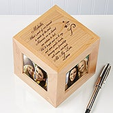Engraved Friendship Wood Photo Cube Picture Frames - 4741