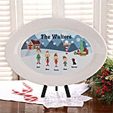 Personalized Christmas Family Characters Personalized Platter