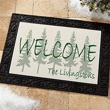 Evergreen Tree Personalized Doormats - Welcome Mats - 4749