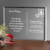 Personalized Holiday Acrylic Postcard - Across The Miles - 4768