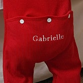 Personalized Baby Red Coverall Romper With Rear Panel - 4770