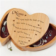 Engraved Wooden Heart Jewelry Box - Someone Like You Message - 4785
