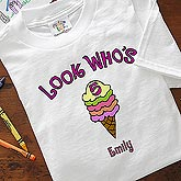 Children's Ice Cream Scoop Personalized Birthday Clothing - 4786