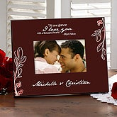 Chocolate Brown Personalized Photo Frame