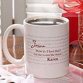 How Do I Love Thee? Personalized Mug