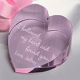 I Followed My Heart© Personalized Heart Prism