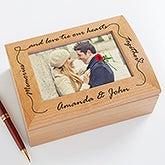 Personalized Wooden Photo Keepsake Box - 4863