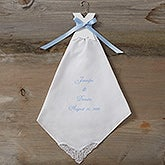 Personalized Bridal Dress Wedding Handkerchief - 4867
