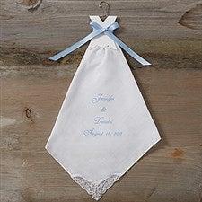 Personalized Bridal Dress Wedding Handkerchief - 4867