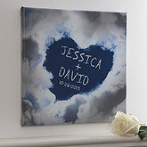 On Cloud Nine Romantic Personalized Canvas Art - 4877