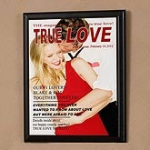 Personalized Magazine Cover Plaque - True Love Design - 4901