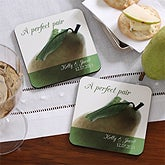 Personalized Coaster Favors - A Perfect Pair Design - 4928