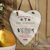 Personalized Recipe For A Happy Household Slate Sign - Heart Shape - 4931