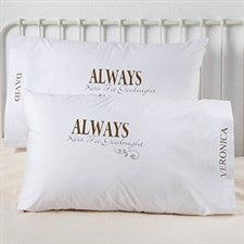 Personalized Pillowcase Set - Kiss Me Goodnight Design - 4954
