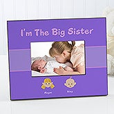 Sister Cartoon Character Personalized Picture Frames - 4972