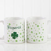 Personalized Large Coffee Mugs - Irish Shamrock